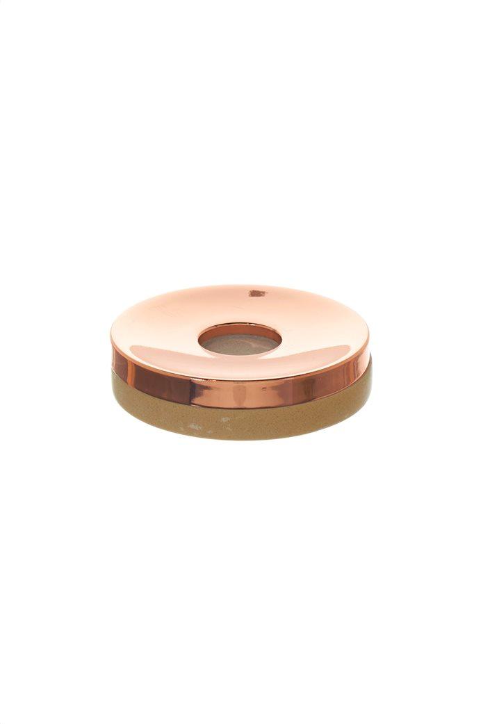 Coincasa θήκη σαπουνιού με μάρμαρο και ροζ χρυσό 11 cm 0