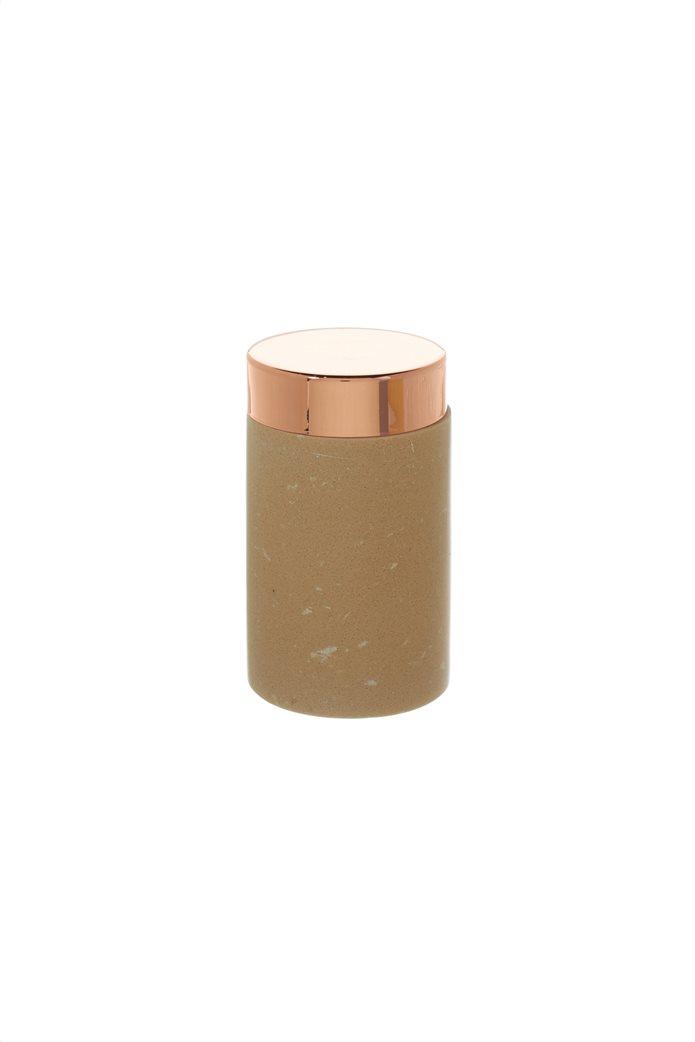 Coincasa μαρμάρινο δοχείο αποθήκευσης με καπάκι από ροζ χρυσό 13 cm 0
