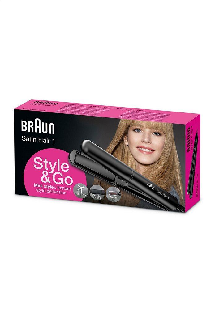 Ισιωτικό μαλλιών ταξιδίου Satin Hair 1 ST100 Βraun 0