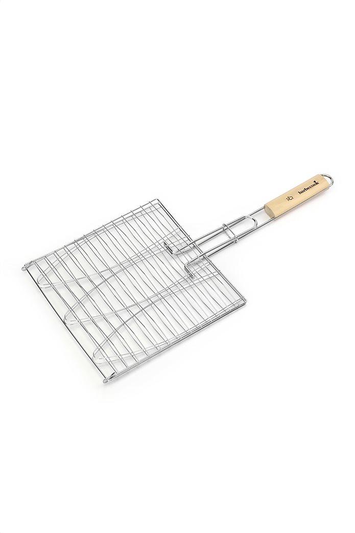 Barbecook σχάρα για ψάρια 3 θέσεων με ξύλινη λαβή 28 x 28 cm 0