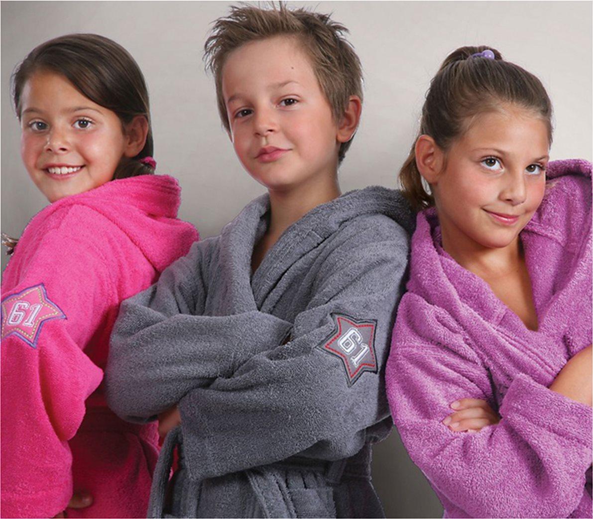 Παιδικό κόκκινο μπουρνούζι με κουκούλα (10 ετών) NEF-NEF 2