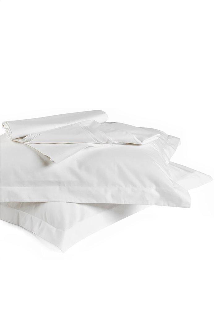 "Kentia σεντόνι υπέρδιπλο με λάστιχο ""True Col 00"" 160 x 200 cm (1 τεμάχιο) Λευκό 0"