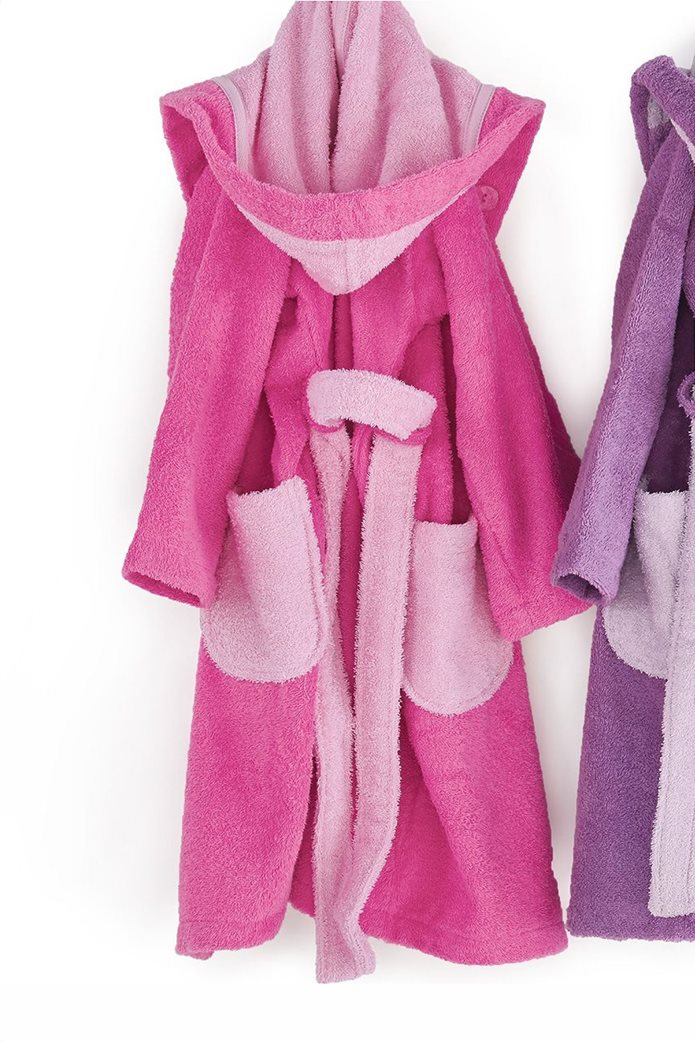 "Kentia παιδικό μπουρνούζι με τσέπες και κουκούλα ""Cool 1427"" (Νο 8) Φούξια 0"