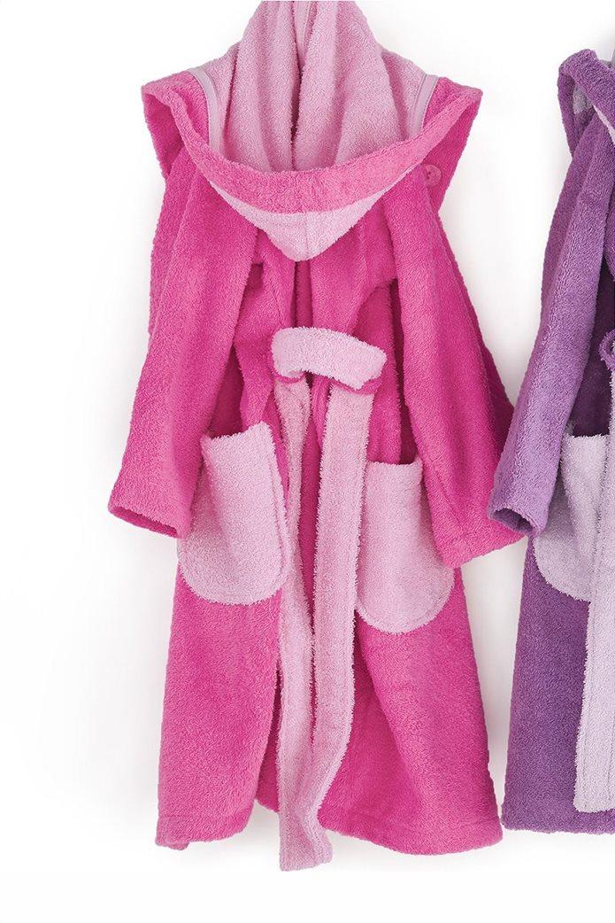 "Kentia παιδικό μπουρνούζι με τσέπες και κουκούλα ""Cool 1427"" (Νο 4) Φούξια 0"