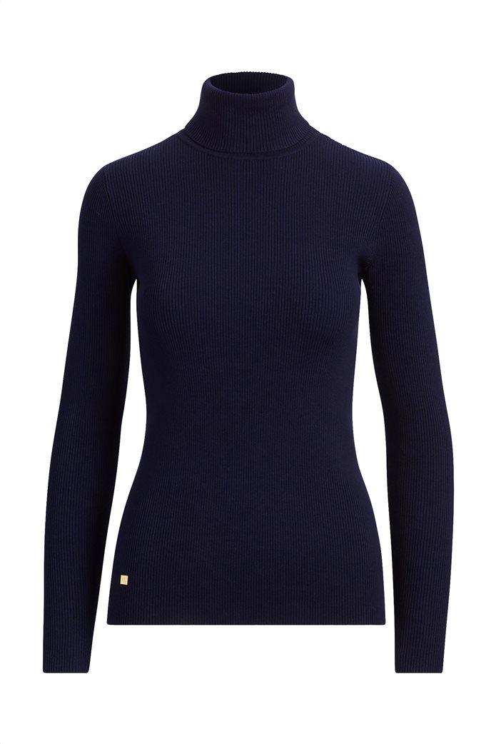 Lauren Ralph Lauren γυναικεία ribbed πλεκτή μπλούζα ζιβάγκο 0