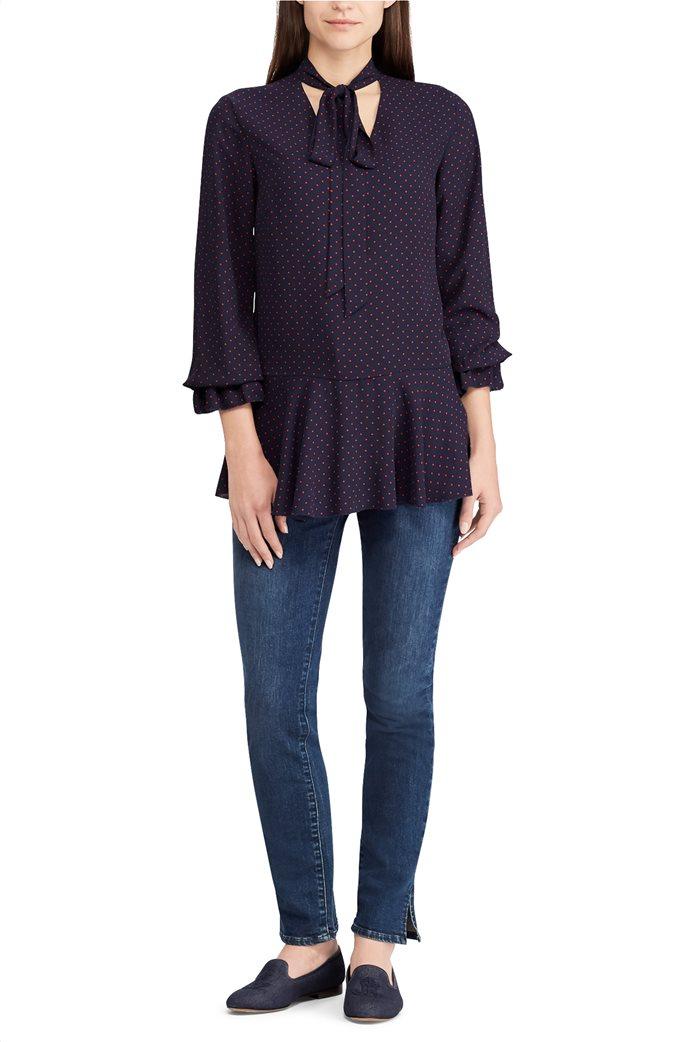 Lauren Ralph Lauren γυναικεία πουκαμίσα πουά Tie-Neck Georgette Top 1