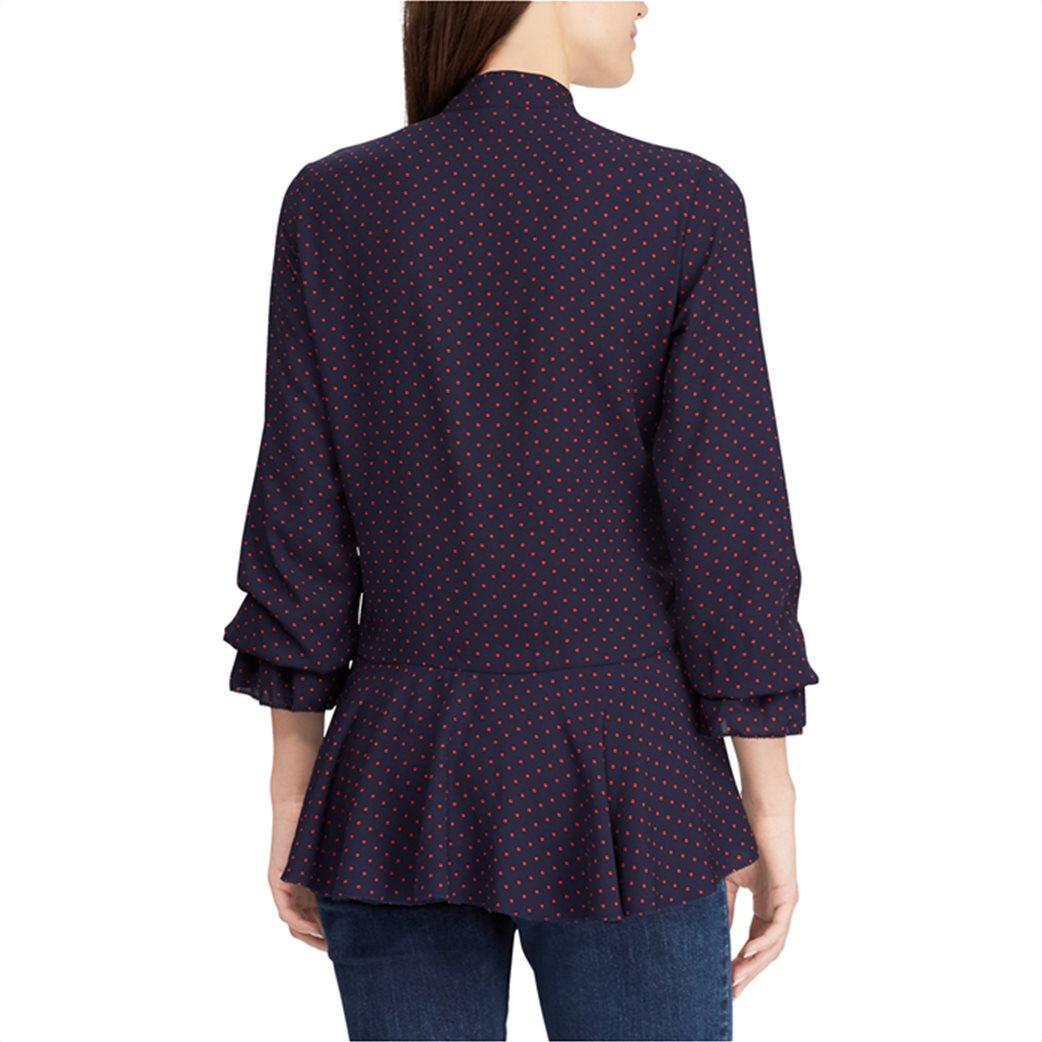 Lauren Ralph Lauren γυναικεία πουκαμίσα πουά Tie-Neck Georgette Top 2