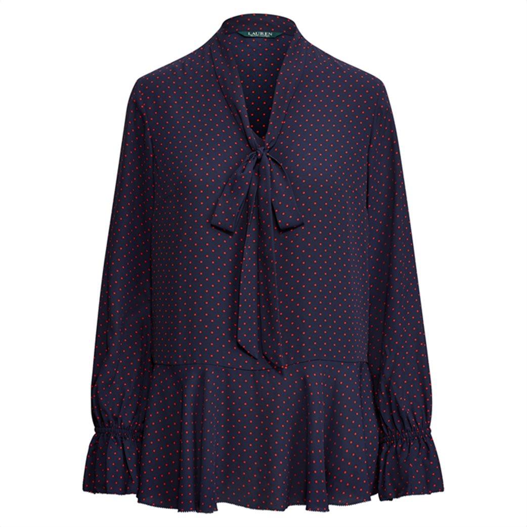 Lauren Ralph Lauren γυναικεία πουκαμίσα πουά Tie-Neck Georgette Top 3