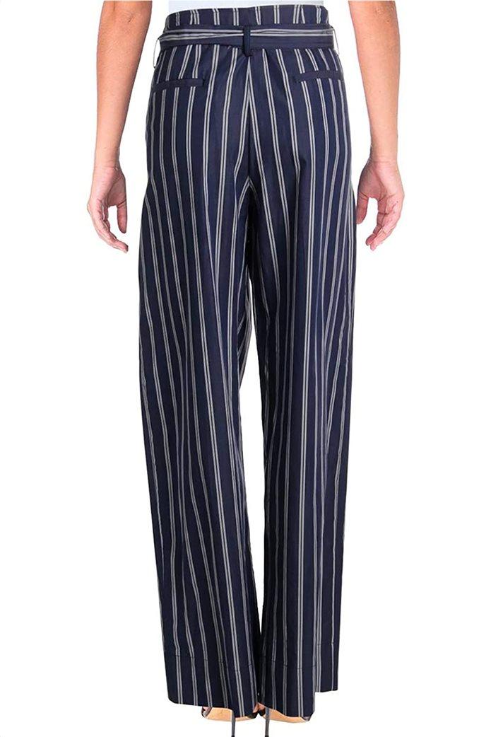 Lauren Ralph Lauren γυναικεία ριγέ παντελόνα με υφασμάτινο ζωνάκι Μπλε 1
