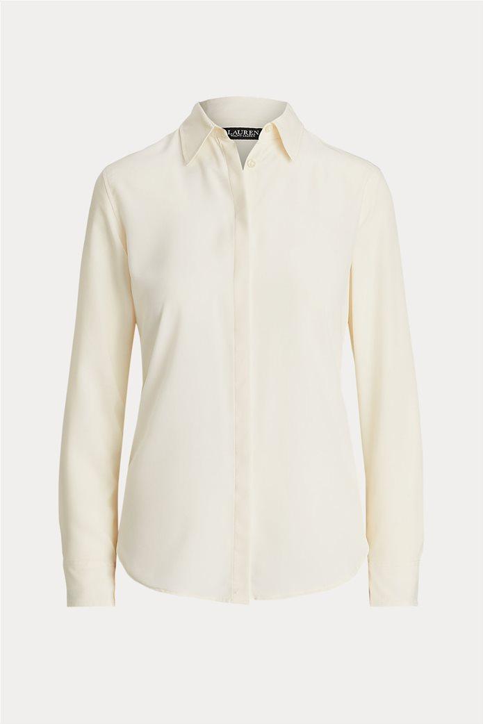 "Lauren Ralph Lauren γυναικείο πουκάμισο μονόχρωμο ""Crepe"" 0"