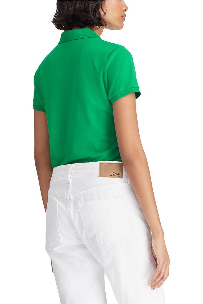 b9e910521436 Polo Ralph Lauren γυναικεία μπλούζα Polo με χρωματιστό λογότυπο Slim Fit 4