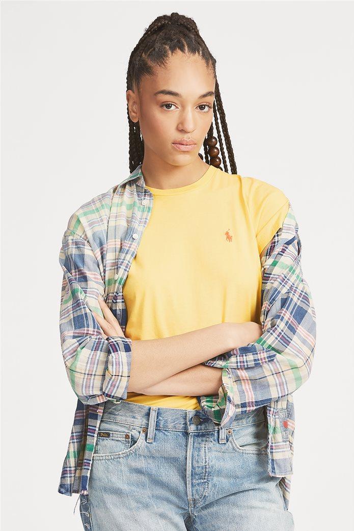 Polo Ralph Lauren γυναικείο μονόχρωμο T-shirt Cotton Crewneck 0