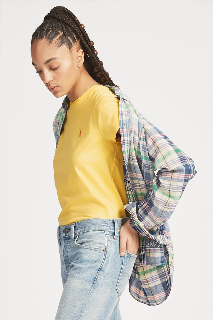 Polo Ralph Lauren γυναικείο μονόχρωμο T-shirt Cotton Crewneck 1