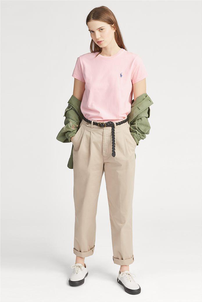 Polo Ralph Lauren γυναικείο μονόχρωμο T-shirt Cotton Crewneck 2