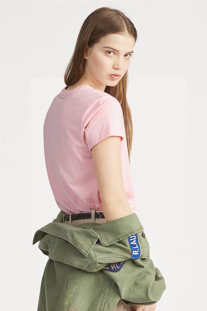 Polo Ralph Lauren γυναικείο μονόχρωμο T-shirt Cotton Crewneck 3