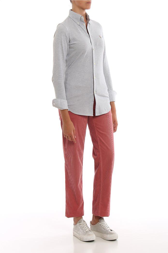 Lauren Ralph Lauren γυναικείο κοτλέ παντελόνι μονόχρωμο 0