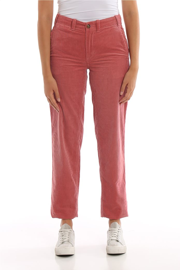 Lauren Ralph Lauren γυναικείο κοτλέ παντελόνι μονόχρωμο 1