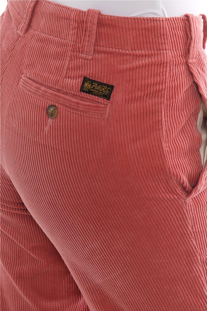 Lauren Ralph Lauren γυναικείο κοτλέ παντελόνι μονόχρωμο 3