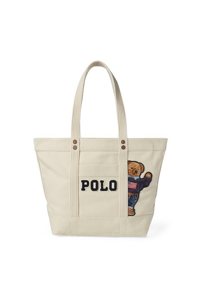 Polo Ralph Lauren γυναικεία τσάντα ώμου Canvas Polo Bear 0