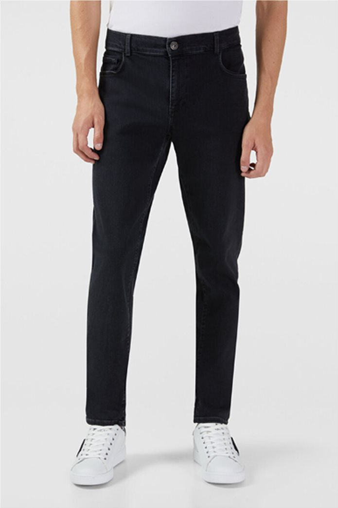 Trussardi Jeans ανδρικό τζην παντελόνι πεντάτσεπο Slim fit 0
