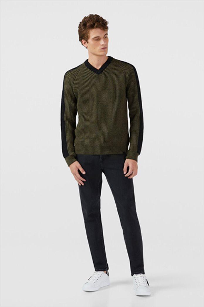 Trussardi Jeans ανδρικό τζην παντελόνι πεντάτσεπο Slim fit 1