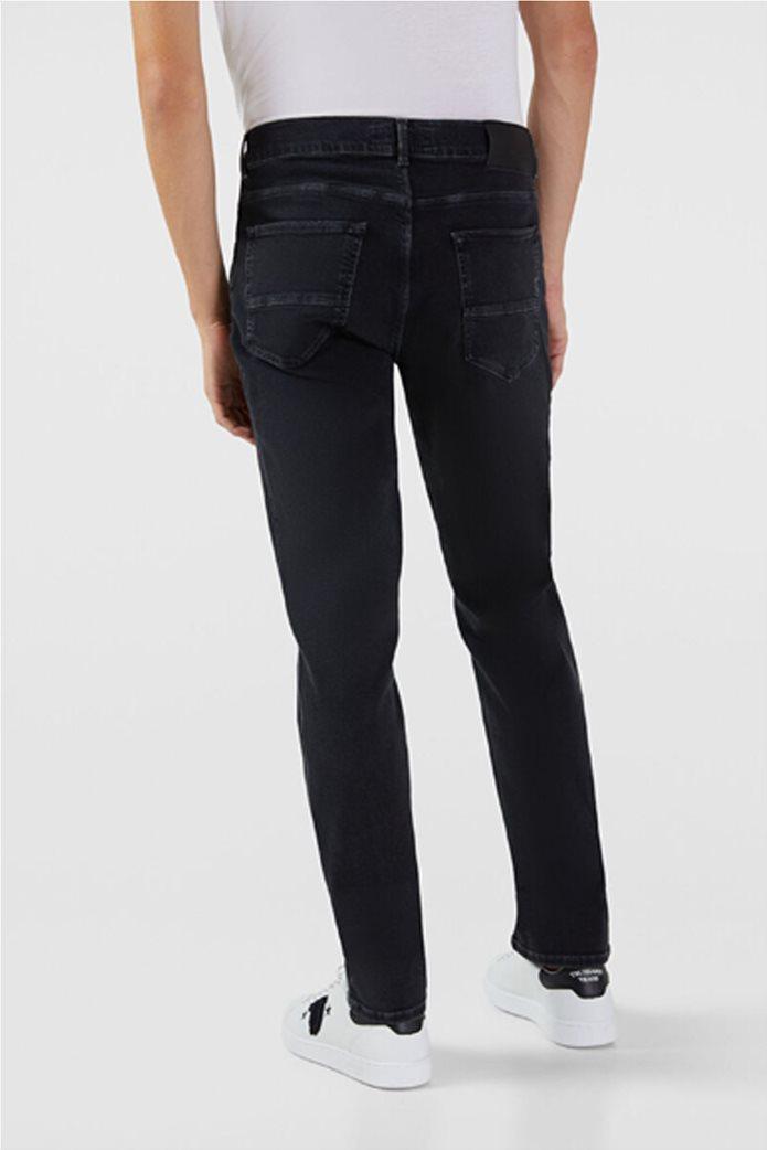 Trussardi Jeans ανδρικό τζην παντελόνι πεντάτσεπο Slim fit 2