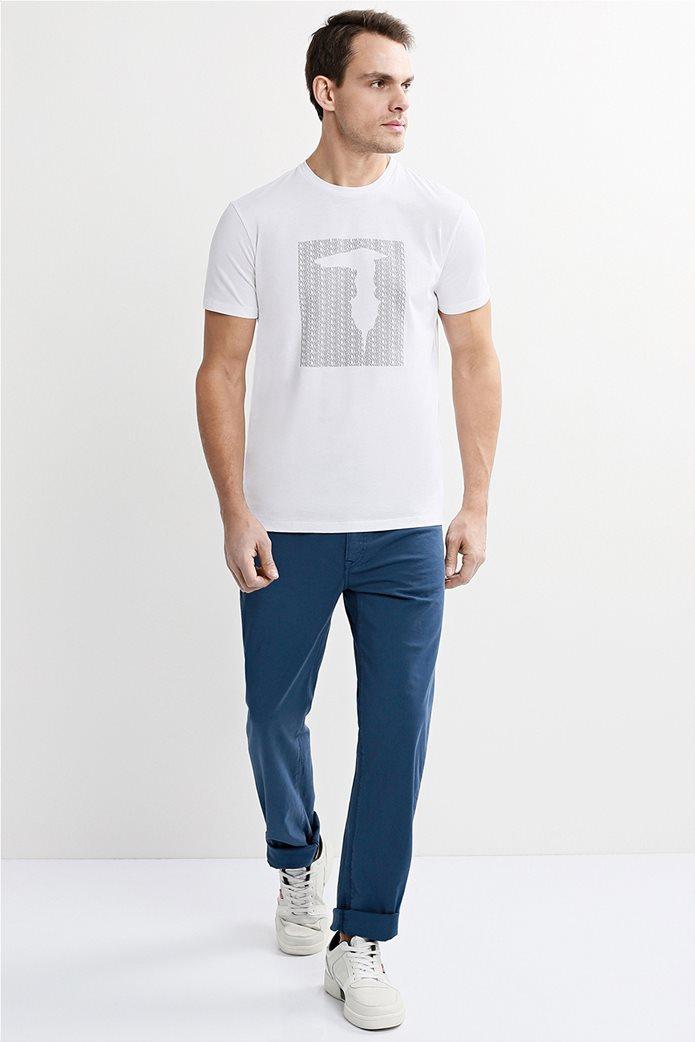 Trussardi Jeans ανδρικό παντελόνι πεντάτσεπο straight fit Μπλε 0