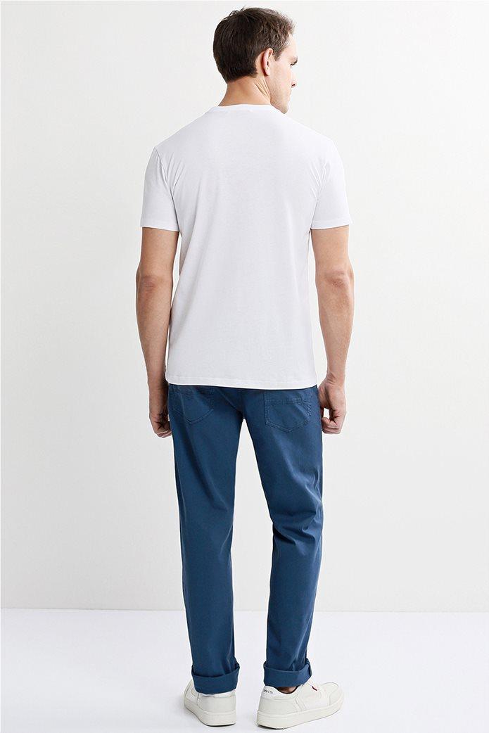 Trussardi Jeans ανδρικό παντελόνι πεντάτσεπο straight fit Μπλε 2
