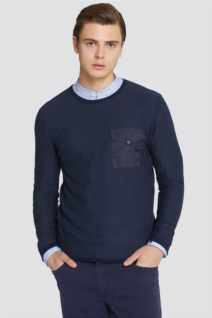 Trussardi Jeans ανδρική μακρυμάνικη μπλεκτή μπλούζα Slim fit 0