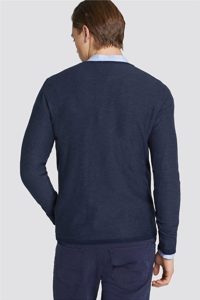Trussardi Jeans ανδρική μακρυμάνικη μπλεκτή μπλούζα Slim fit 1