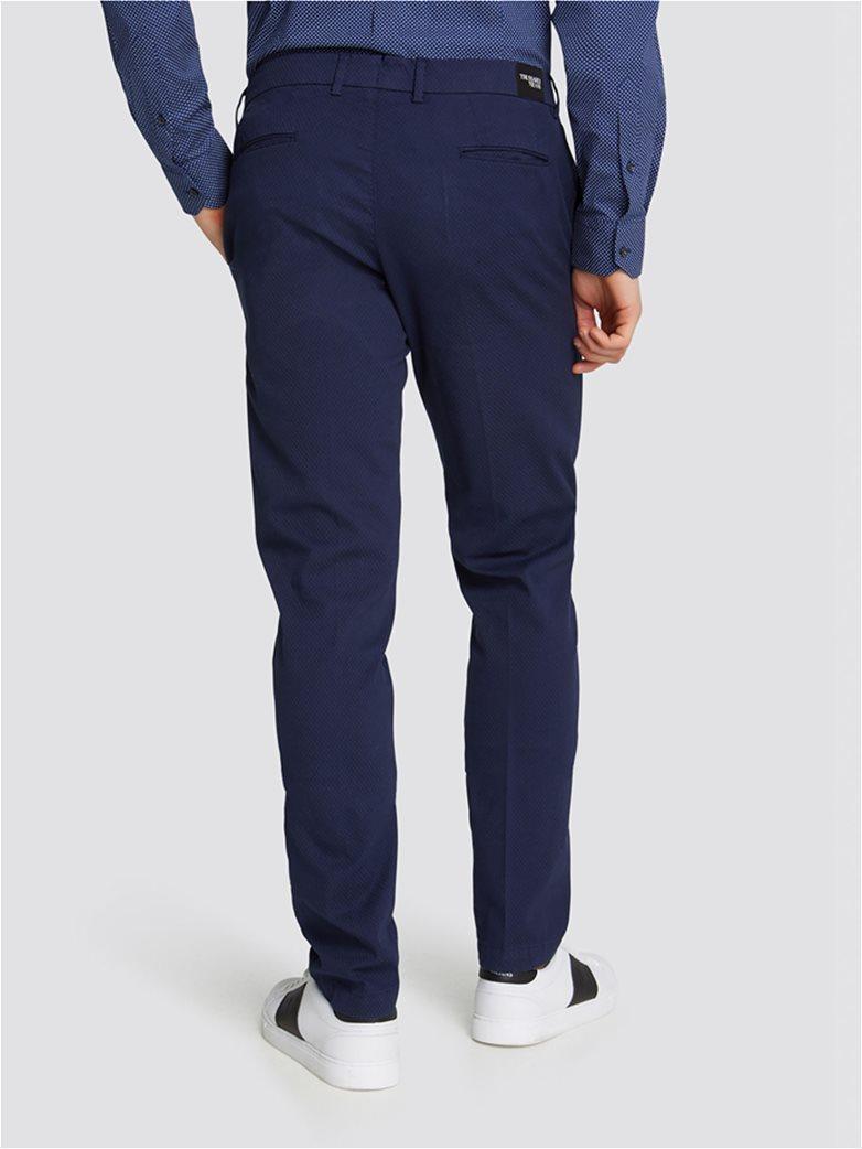 Trussardi Jeans ανδρικό υφασμάτινο παντελόνι με μικροσχέδιο 1