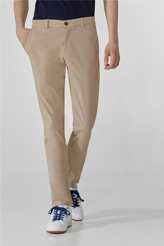 Trussardi ανδρικό chino παντελόνι μονόχρωμο Μπεζ 0