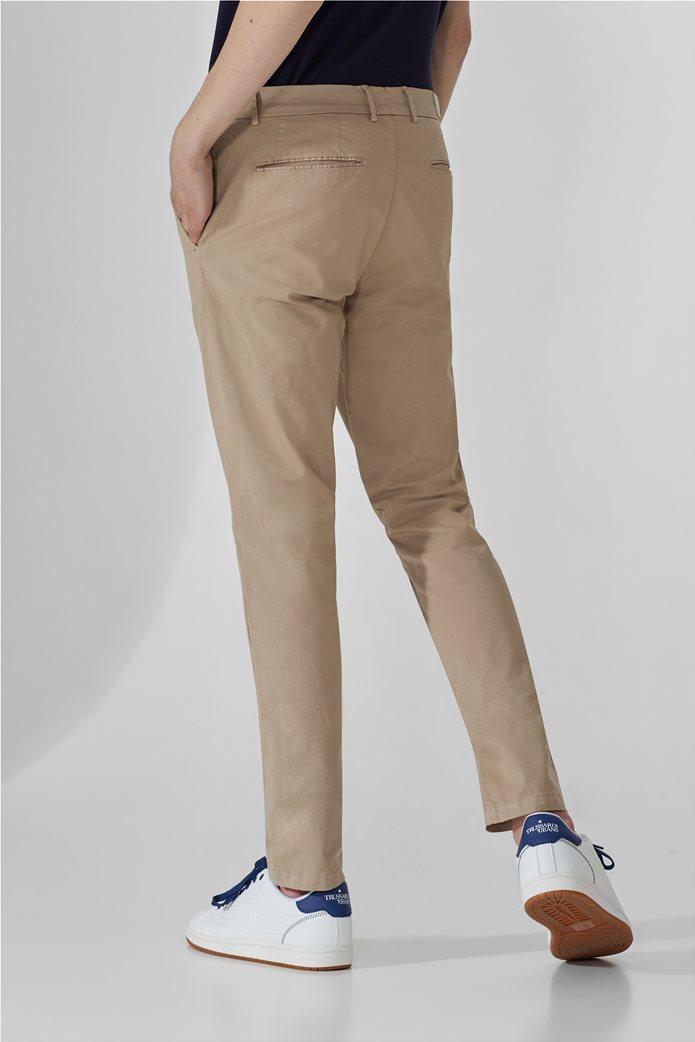 Trussardi ανδρικό chino παντελόνι μονόχρωμο Μπεζ 2