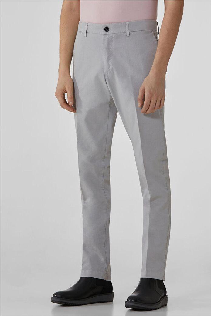 Trussardi Jeans ανδρικό chino παντελόνι μονόχρωμο 0