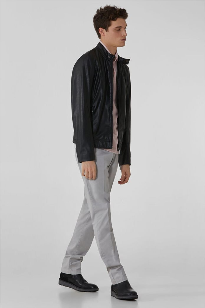 Trussardi Jeans ανδρικό chino παντελόνι μονόχρωμο 1