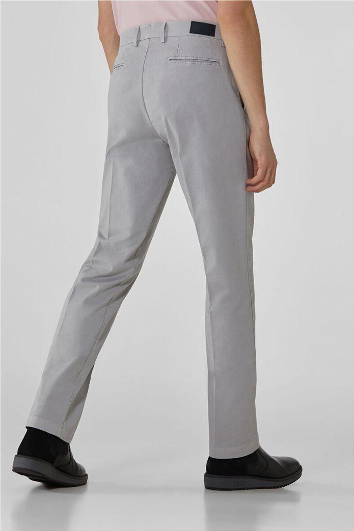 Trussardi Jeans ανδρικό chino παντελόνι μονόχρωμο 2