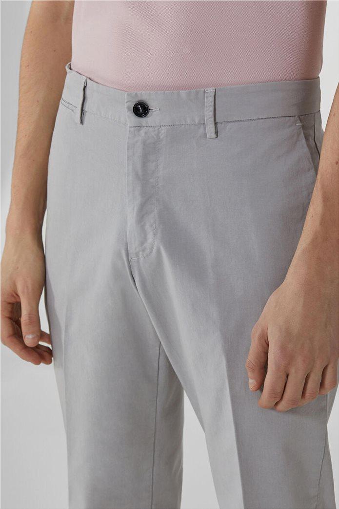 Trussardi Jeans ανδρικό chino παντελόνι μονόχρωμο 3