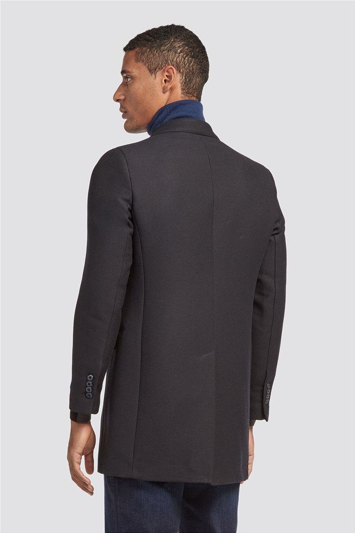 Trussardi Jeans ανδρικό παλτό με διαγώνια ύφανση 1