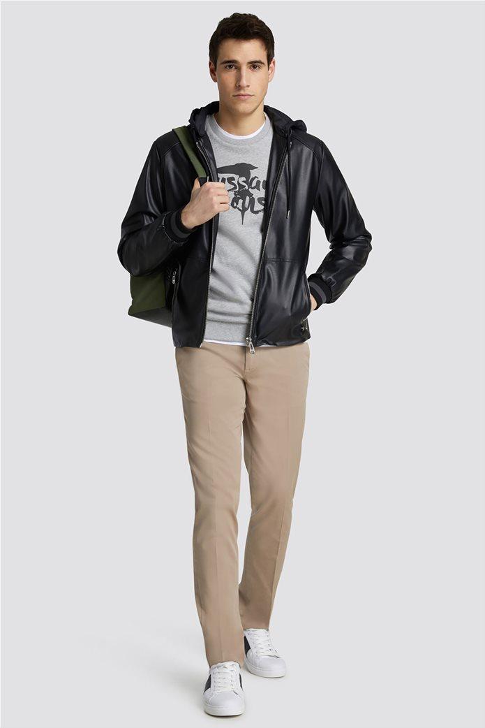 Trussardi Jeans ανδρικό Τ-Shirt με μεγάλο λογότυπο 2