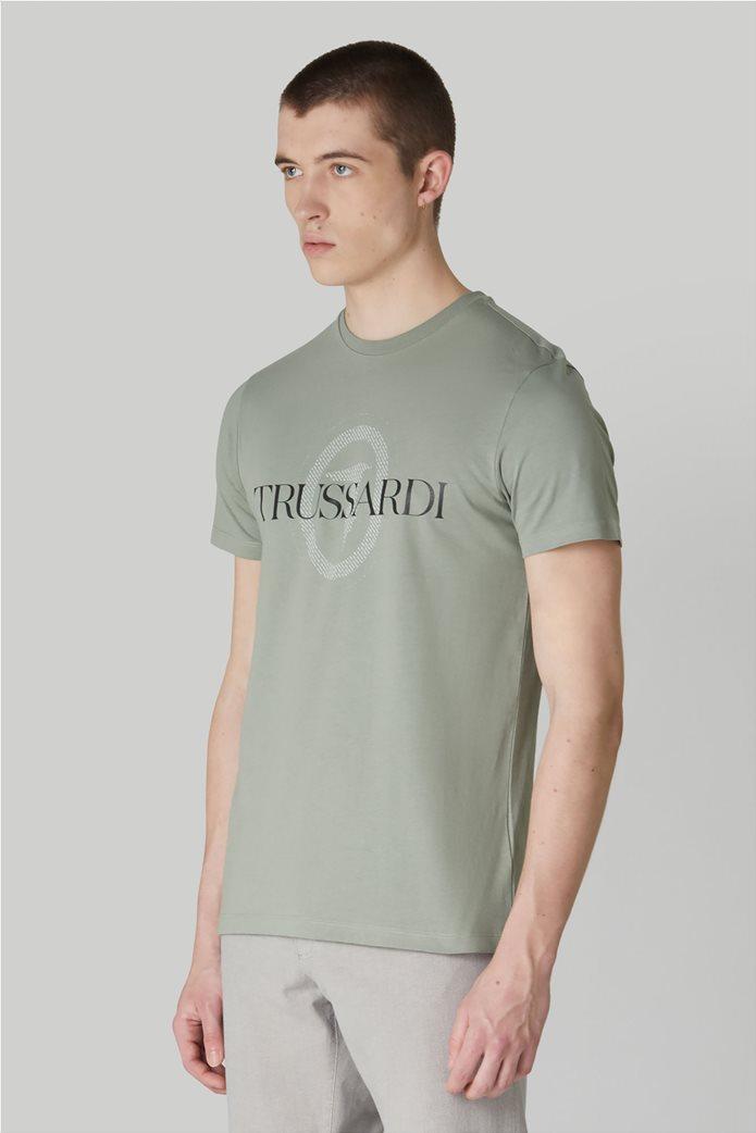 Trussardi Jeans ανδρικό T-shirt με logo print στο στήθος 1