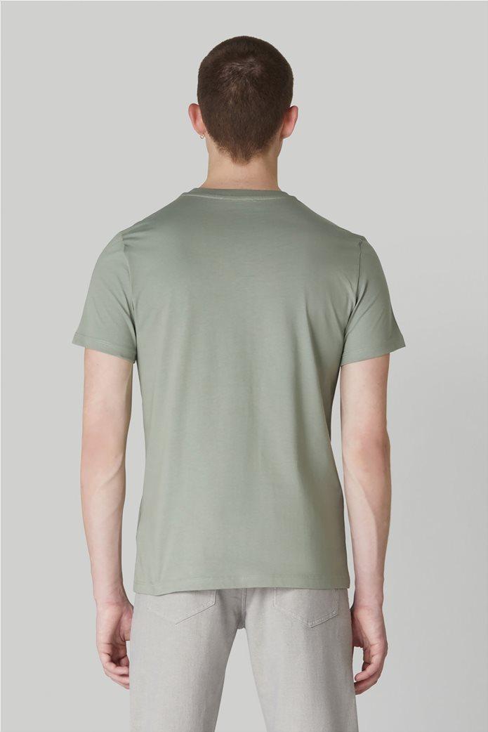 Trussardi Jeans ανδρικό T-shirt με logo print στο στήθος 2