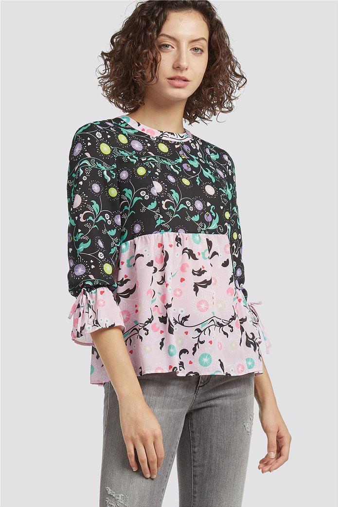 Trussardi Jeans γυναικεία μπλούζα με εμπριμέ print 0
