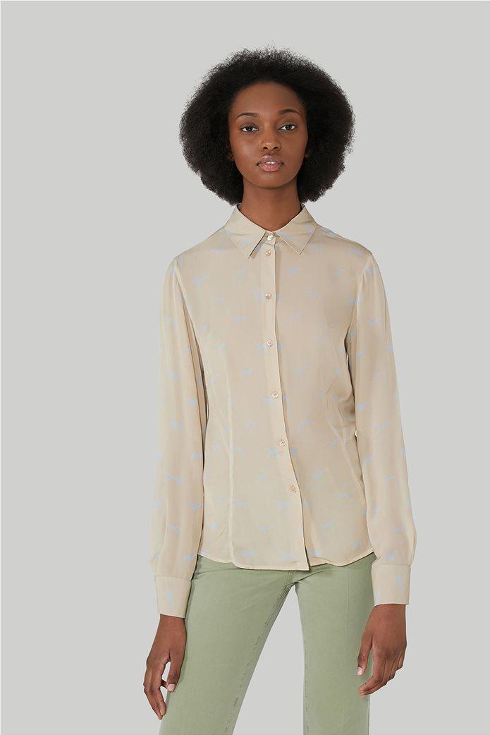 "Trussardi Jeans γυναικείο πουκάμισο με all-over print ""Levriero"" 0"