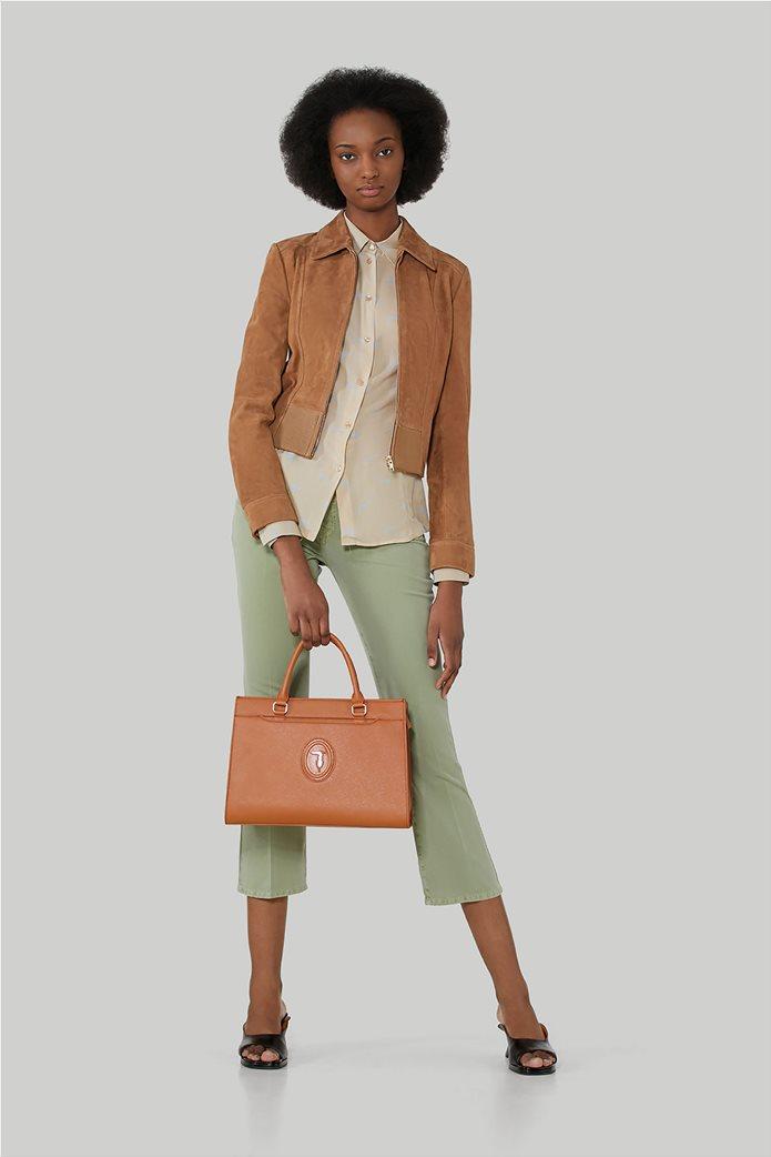 "Trussardi Jeans γυναικείο πουκάμισο με all-over print ""Levriero"" 1"