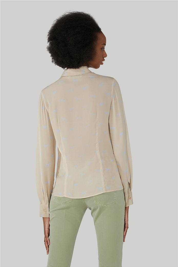 "Trussardi Jeans γυναικείο πουκάμισο με all-over print ""Levriero"" 2"