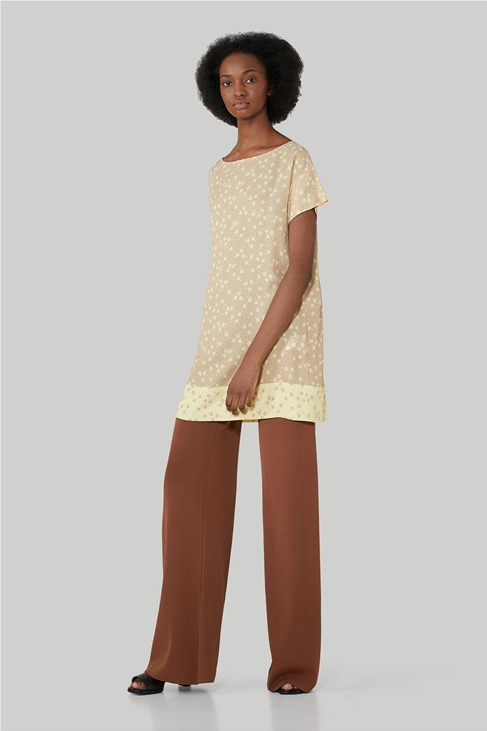 Trussardi Jeans γυναικεία κοντομάνικη μπλούζα με floral print 1