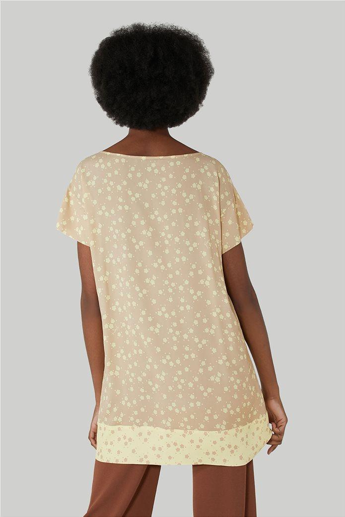 Trussardi Jeans γυναικεία κοντομάνικη μπλούζα με floral print 2