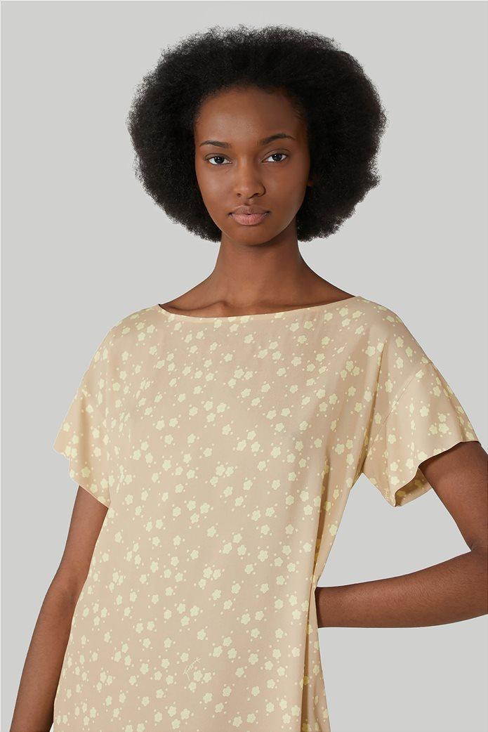 Trussardi Jeans γυναικεία κοντομάνικη μπλούζα με floral print 3