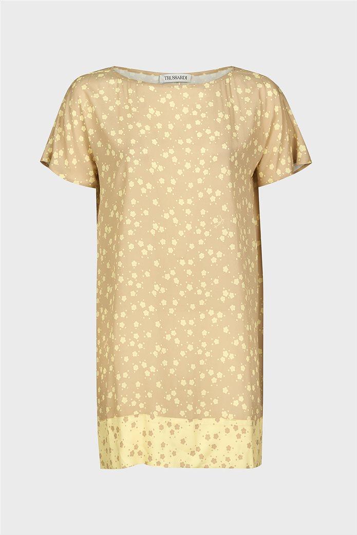 Trussardi Jeans γυναικεία κοντομάνικη μπλούζα με floral print 4