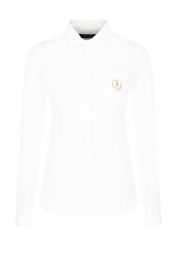 """Trussardi Jeans γυναικείο πουκάμισο με τσέπη στο στήθος """"Majica"""" 3"""